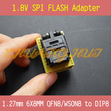 1.8V adapter for Iphone or motherboard 1.8V SPI Flash 8X6mm WSON8 W25 MX25 can use on programmers such as CH2015 TL866CS TL866A