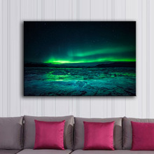 Beautiful and Spectacular Aurora Canvas Spray Painting HD High Quality Home Decoration Pictures