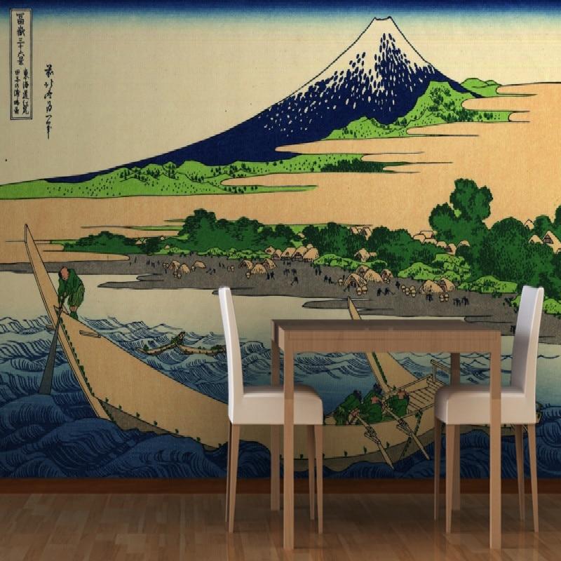 Mural Shore Bay by Hokusai Mural wallpaper for walls background Large living room bedroom wallpaper 3d c j holmes hokusai