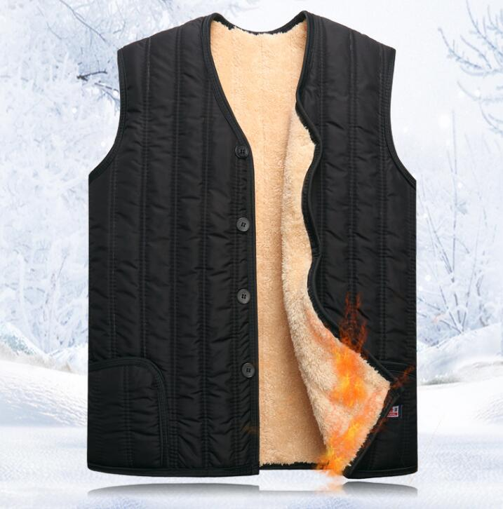 Autumn And Winter Mens Outdoor Thicken Warm Faux Fur Quinquagenarian Vest Male Fur One Piece Thermal Fur Vest Waistcoat Tb046 Convenient To Cook Vests & Waistcoats Men's Clothing