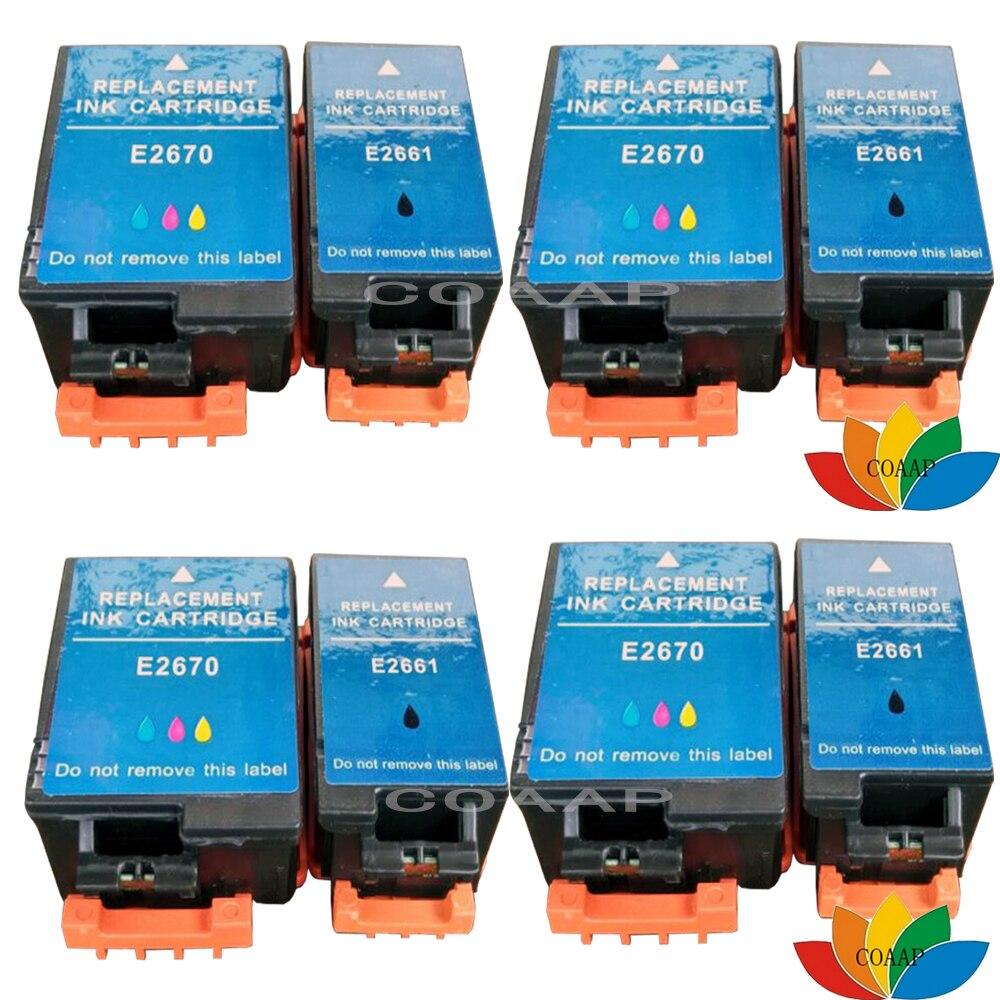 8x Compatible EPSON 2661 2670 Cartouche D'encre Pour Imprimante WorkForce 100 W WF-100W T2661 T2670 Multipack Avec puces