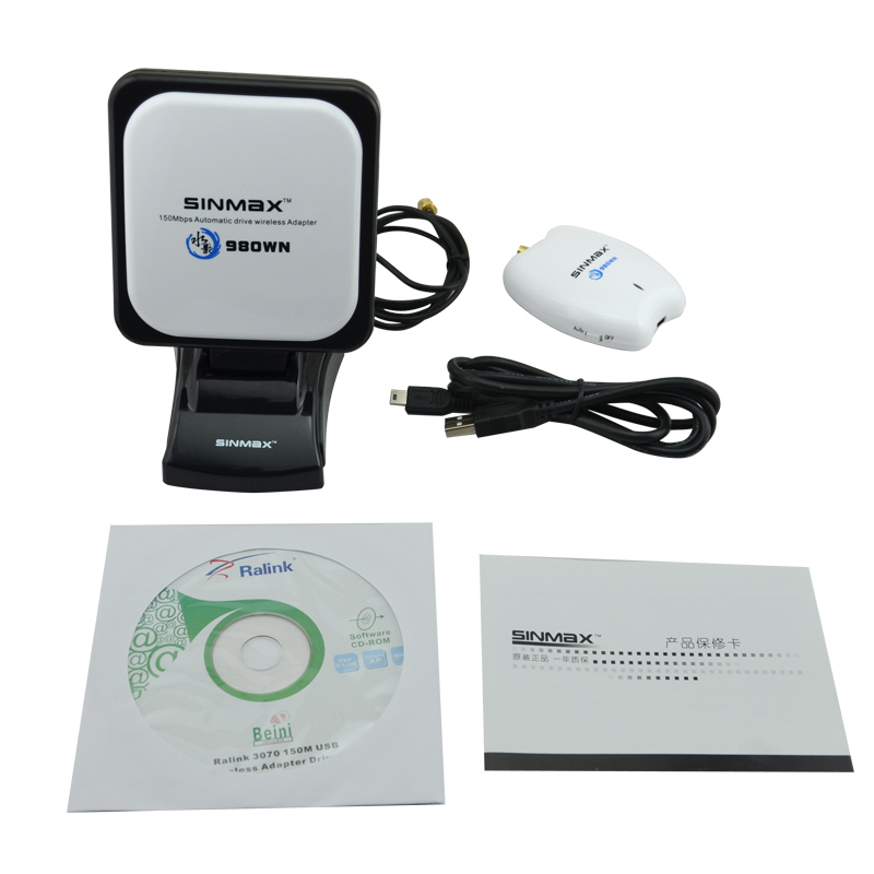 Comfast Alta potência usb wifi adaptador Sinmax SI-7300NA céu sinal da antena sem fio de longo alcance adaptador usb wi-fi frete grátis