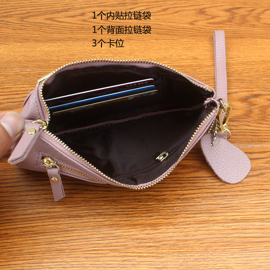 b0f177ac5917 2017 New Head Layer Cowhide Carry Bag Lady Mobile Phone Bag Zero Purse Coin  Purse Wallet-in Coin Purses from Luggage   Bags on Aliexpress.com
