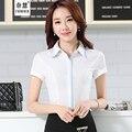 Elegant Ladies Office summer style korean Shirts 2016 Work Women blusasTops Double-layer  Female Chiffon Blouse Chemise Femme