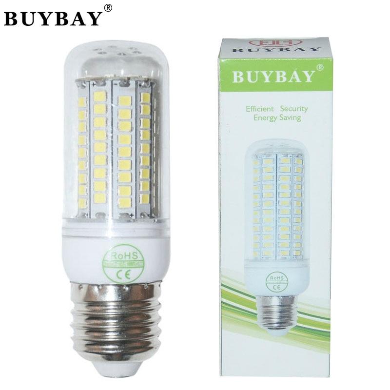 10pcs/lot E27 LED lamp SMD 2835 102LEDs 220V/110V White/Warm White Corn light jrled e27 12w 1000lm 3300k 60 smd 2835 led warm white horizontal lamp white silver ac 85 265v