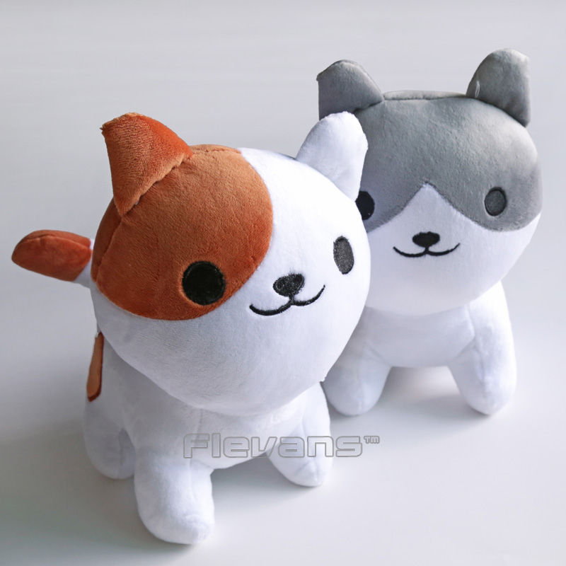 купить Cute Lovely Neko Atsume Cat Kawaii Plush Toys Soft Stuffed Animal Dolls 25cm по цене 658.22 рублей