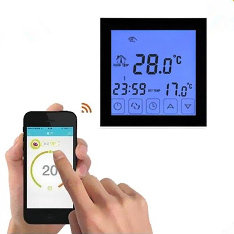 Thermostat intelligent noir/blanc WiFi Android et iOS App contrôle hebdomadaire Programmable température ambiante chaude contrôleur AC200V-240V - 2