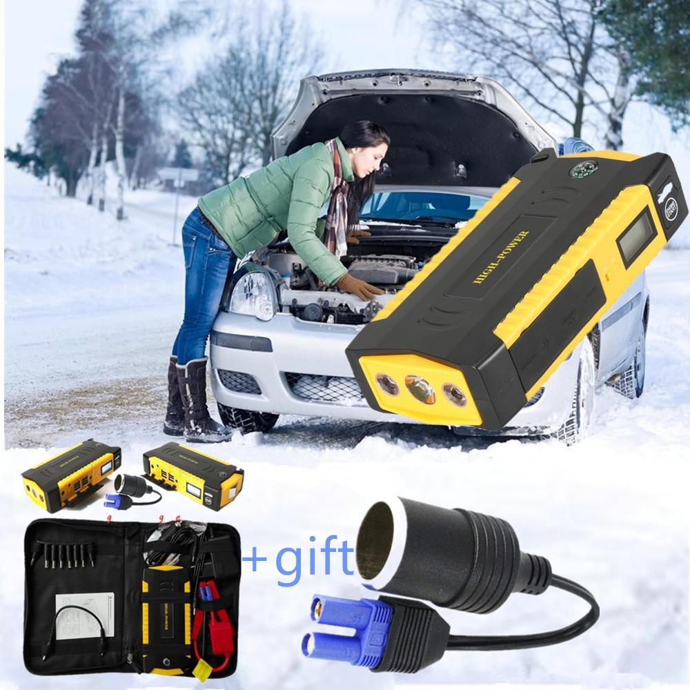 16000mAh 12V Car font b Battery b font Power Bank Car Jump Starter Portable 600A Peak