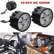 2Pcs 10V-85V 12W Motorcycle E-bike LED Mirror Light Spot Fog Lamp 6500K White 12A 800lm 20000-50000HRS