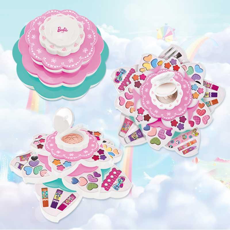 Моделирование туалетный столик макияж коробка игрушка косметический набор для девочек тени для век лак для ногтей бальзам для губ водораст... - 4