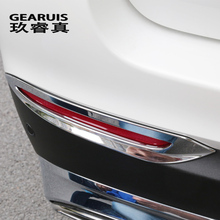 Car styling Rear fog lamps cover grille slats fog lights cover decoration Trim strips for Mercedes Benz GLC Class X253 Sport