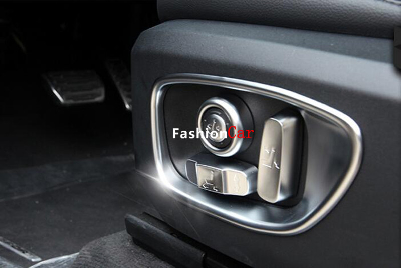 For Jaguar XF X260 2016 Seat Adjustment Knob Switch Knob Button Cover Trim 10pcs цена