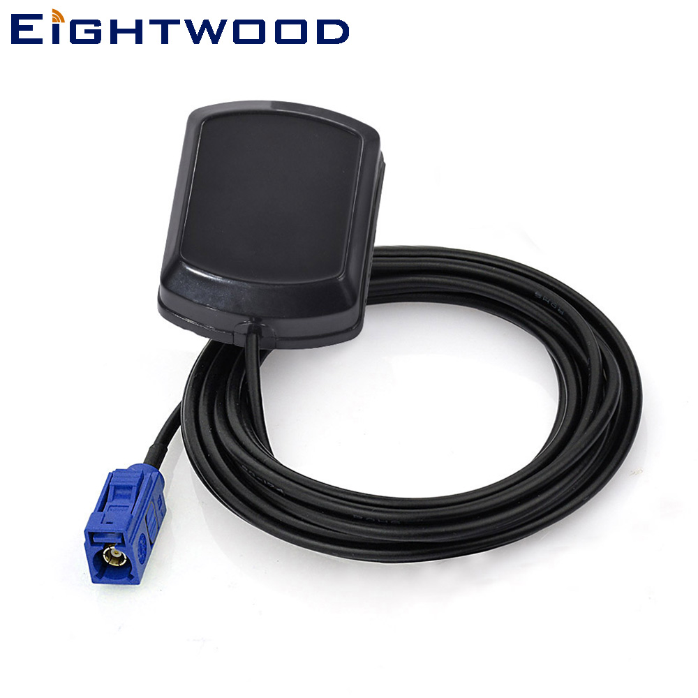 Eightwood Car GPS Active Antenna for Car GPS Receivers/Systems with  Fakra C Connector Customizable for  Audi BNW