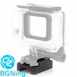 CNC 20mm Mini riel de montaje Base del adaptador para GoPro Hero 1 2 3 3 + 4 período de sesiones 5 5 5 6 6 7 8 negro SJcam YI de Osmo CÁMARAS DE ACCIÓN DE