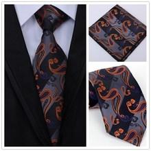 hot deal buy new fashion men classic tie 100% silk paisley floral  woven men tie neck tie set handkerchief men`s wedding business party
