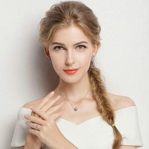 Image 2 - BAMOER otantik % 100% 925 gümüş kademeli değişim yuvarlak tekerlek mavi melodi kolye kolye kadınlar için güzel takı hediye