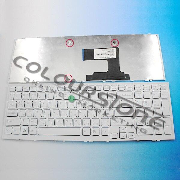 Nouveaux claviers d'ordinateurs portables pour sony VPC-EL russe RU langue claviers avec cadre couleur noire