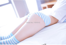 Japanese cute girl COS daily cotton blue and white / pink and white striped briefs MIKU lolita cosplay underwear lizzie timewarp notebook pink and white striped