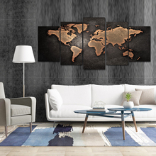 Vintage posters and prints World map on the wall painting art picture world decor voor woonkamer home