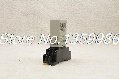цена на 10 set base + time timer relay 8pin H3Y-2 H3Y AC220V 5A 1.0-30Seconds 30S