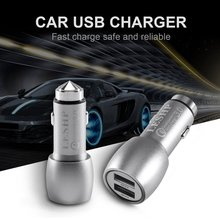 Quick Charge QC3.0 Dual USB Ports Mini Portable Lightweight Metal Shell Car Fast Charger Universal For Smart Phones
