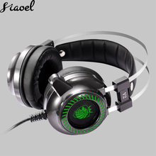 Headset Computer 7.1 Game LED light Headphones Stereo Gaming Surround Bass Earphone Headphone with Mic