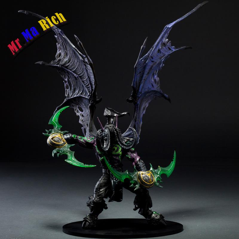 Wow Demon Hunter Action Figure Della Serie Dc Unlimited 5 13 Pollici Deluxe Boxed Demone Illidan Stormrage Figura Giocattolo Del world of warcraft wow resin action figure display toy doll illidan stormrage