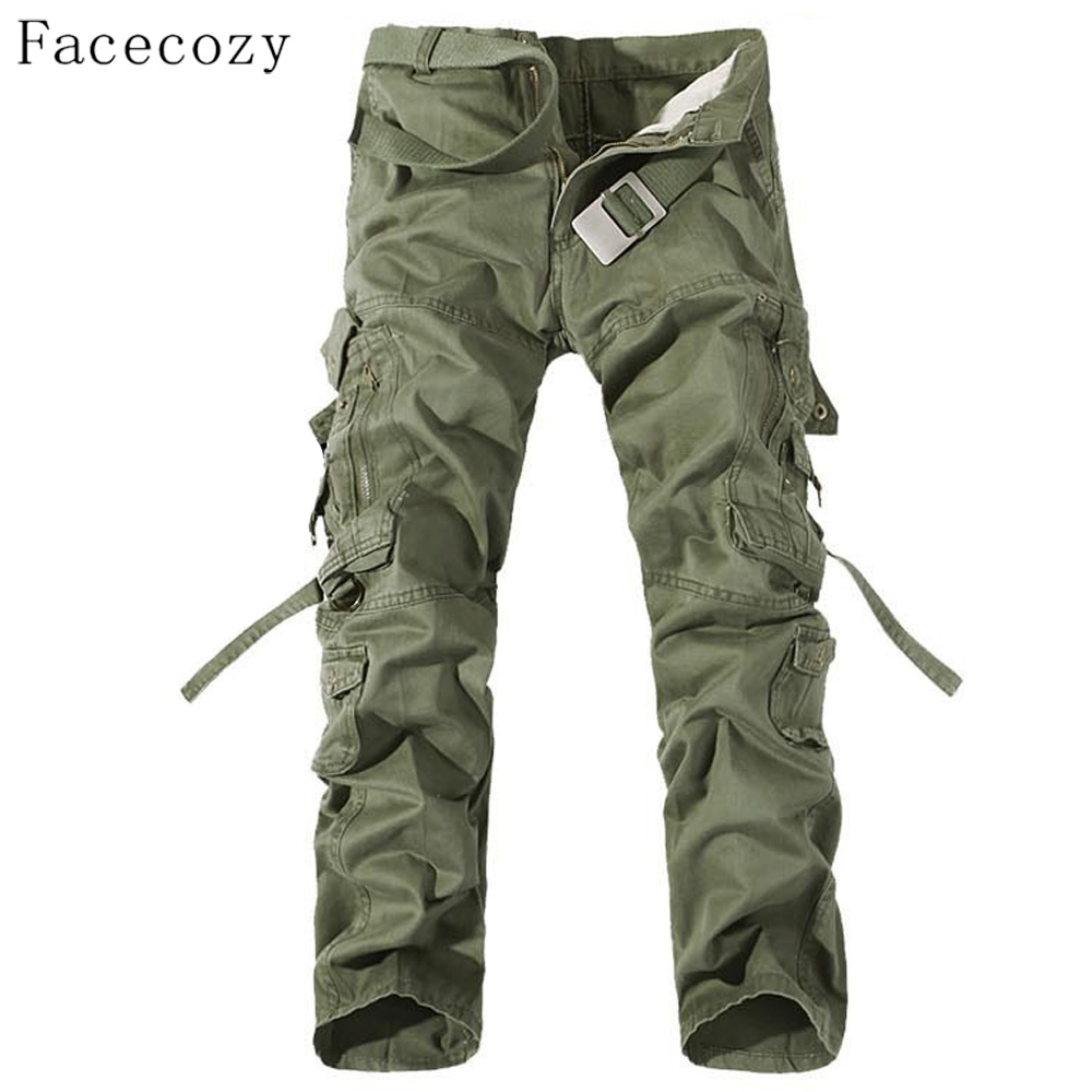 Facecozy Men Autumn Military Outdoor Pant Male Windproof Loose Style Hunting Sports Trouser Plus Size afs jeep winter men s long trousers mens straight jeans casual loose waistline autumn long trouser man male botton plus size 42