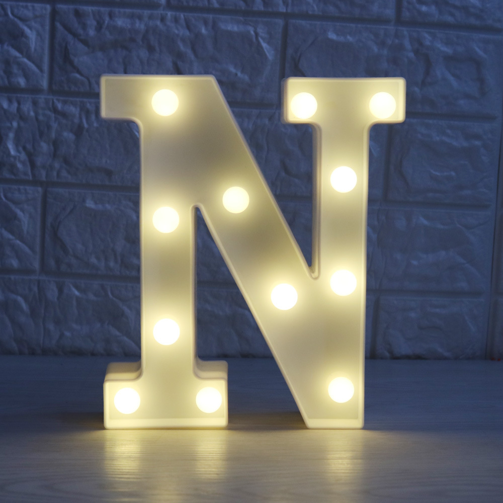LED 26 Letters Lights ABC Lamp Indoor Decor Wall Light Wedding Event ...