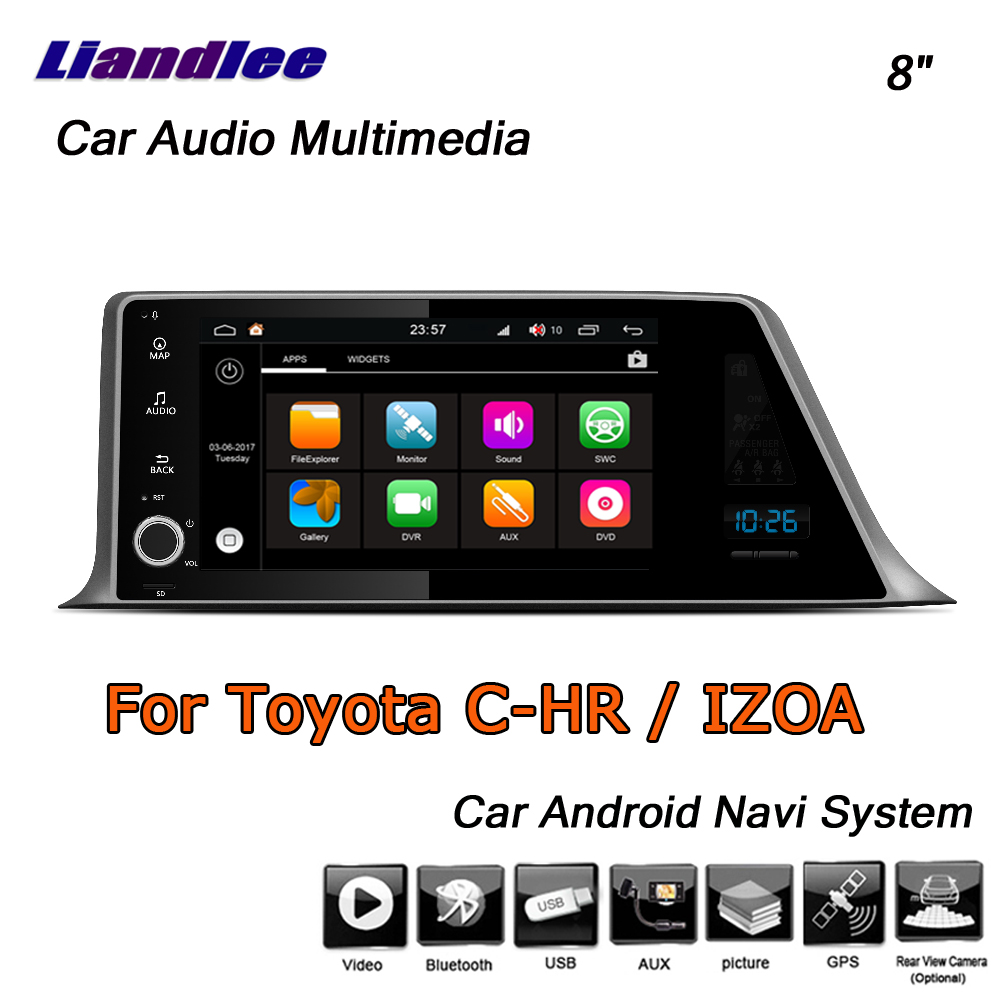 Liandlee Android 8 UP For Toyota CHR C HR IZOA 2015 2019 Stereo Car Radio Carplay