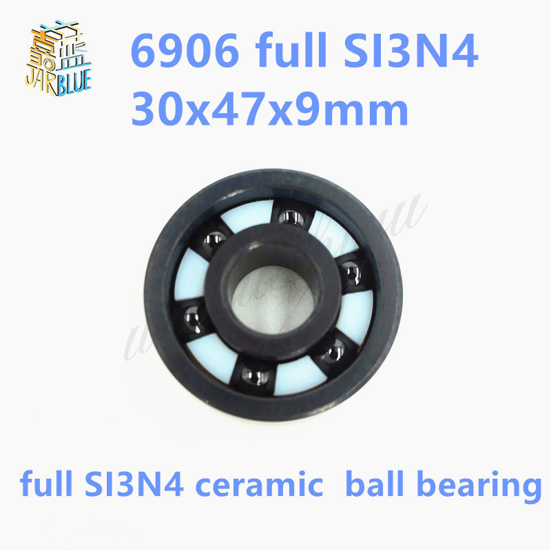 Free shipping 6906 full SI3N4 ceramic deep groove ball bearing 30x47x9mm P5 ABEC5 free shipping 6901 full si3n4 ceramic deep groove ball bearing 12x24x6mm open type 61901 p5 abec5