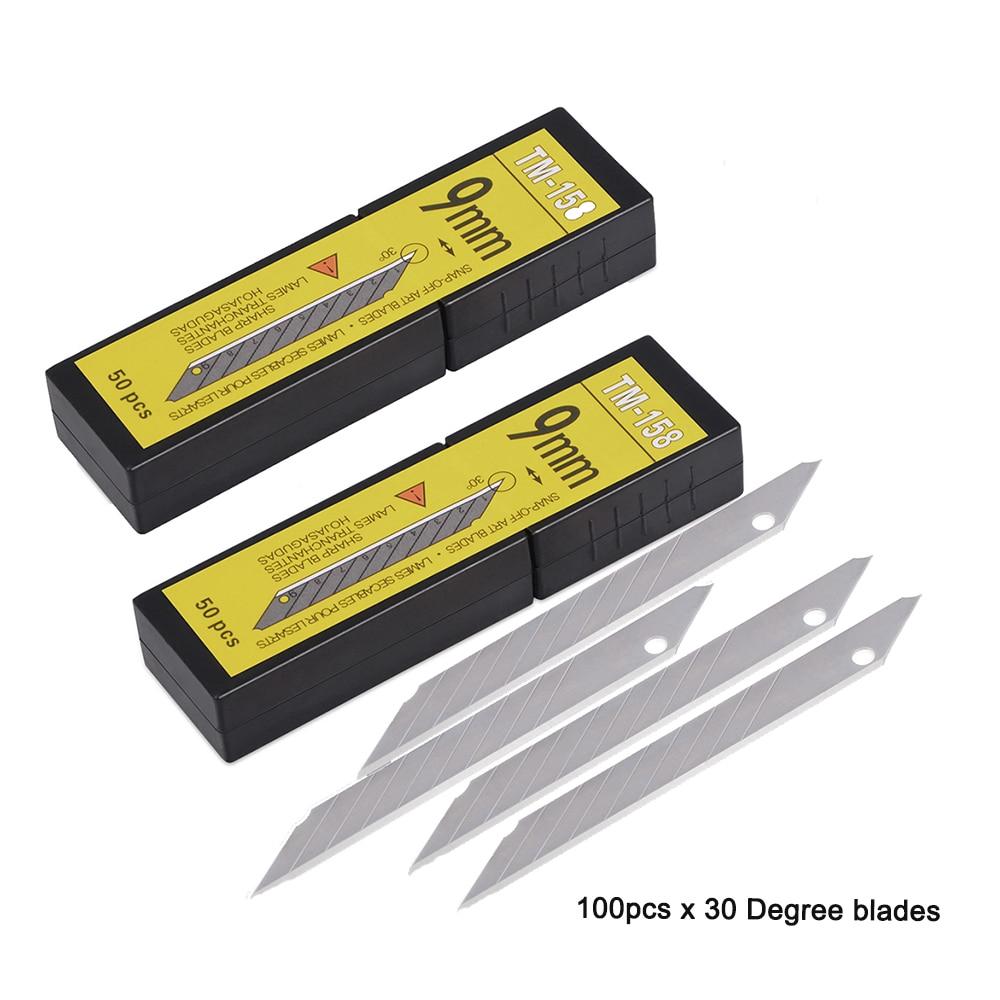 100 шт сменные лезвия из углеродистой стали 30 градусов 9 мм