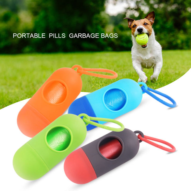 Portable Poop Garbage Bags For Dogs Cat