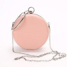 цена на Famous Designer Women Evening Bag Pink Ladies Handbag Luxury Clutch Bag Korean Small Round purse Fashion Chain Messenger Bags