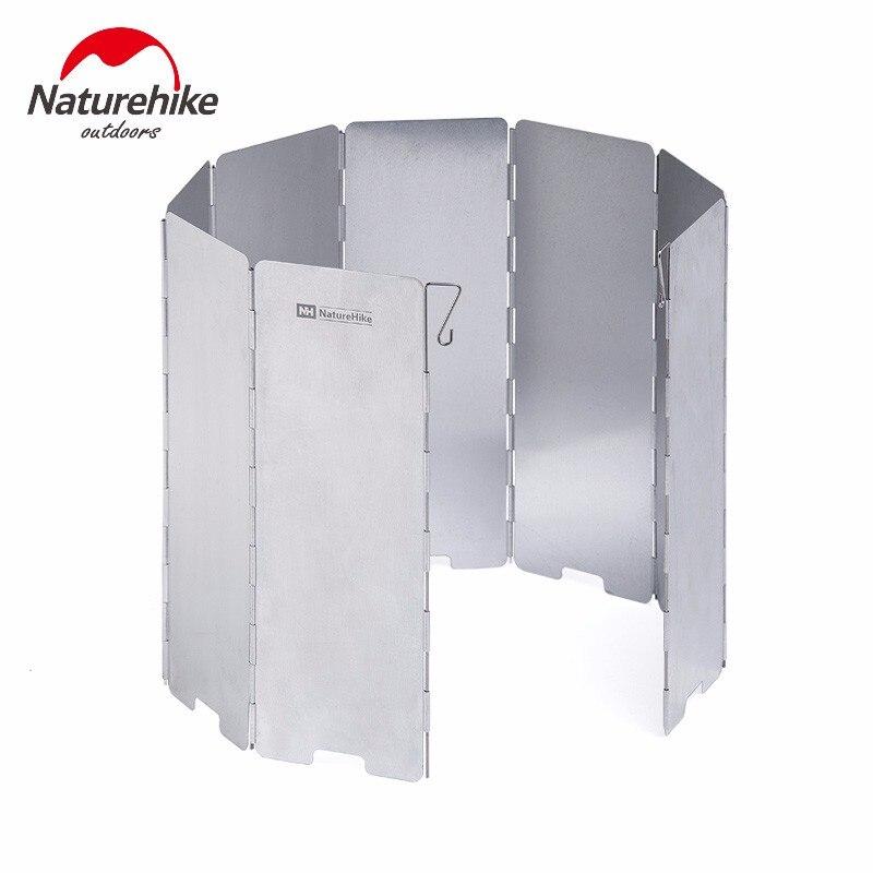 Naturhike ультралегкие уличные печки для кемпинга, 8 тарелок, складная плита, газовая плита, ветрозащитная, экран, алюминиевое лобовое стекло