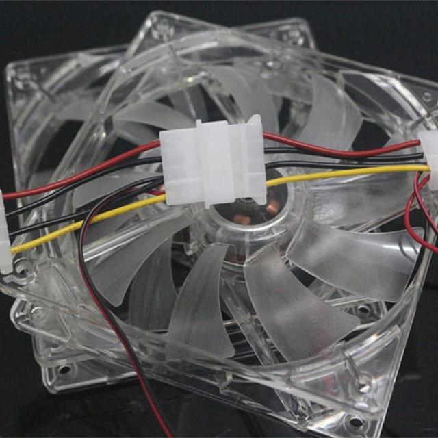 120x120x25 milímetros Fã Fácil Instalação 4 LEVOU Luz de Plástico Transparente PC Caso Ventoinha de Computador Portátil refrigerador Radiador Dispositivo