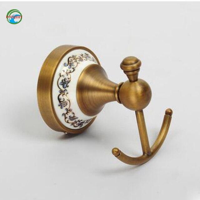 Vendita Appendiabiti.Vendita Caldo Europeo Bronzo Antico Ceramica Robe Hook Gancio