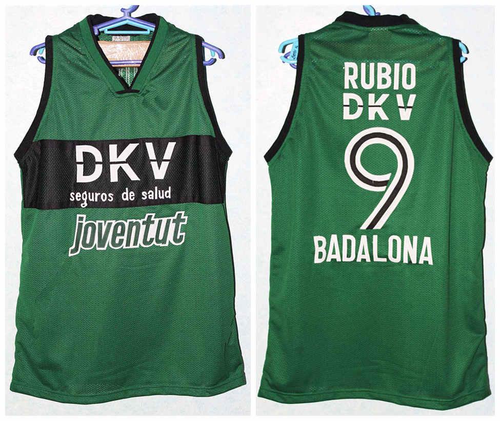 #9 Рикки Рубио ИСПАНИЯ Espana Badalona Ретро Баскетбол Джерси мужские сшитые на заказ