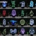 Lego Star Wars 3D Noite Decoração Da Lâmpada LED Night Light Iluminação Colorida Gradiente Millennium Falcon Atmosfera Noite Iluminação Decoração