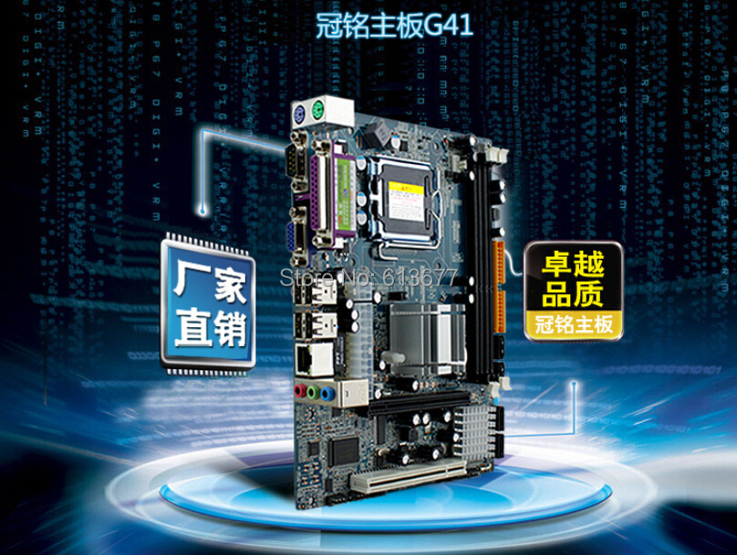 New licensed G41 G41 motherboard supports DDR3 memory with a 775-pin IDE connector series CPU free shipping asus tg31 a7 supports ddr2 775 pin integrated large plate g31 motherboard