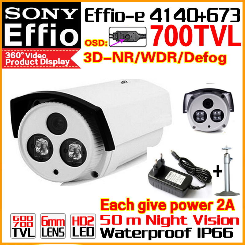 Discount Hd Sony CCD Effio Surveillance Camera Real 700TVL Analog 960 Outdoor Waterproof IP66 Infrared Night Vision Video Bracke free shipping infrared video camera ccd sony effio e 700 tvl high definition surveillance camera six lamps array waterproof