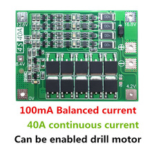 4S 40A 18650 Li-ion Lithium Battery Charger Protection Board PCB BMS with Balance For Drill Motor 14.8V 16.8V Lipo Cell Module