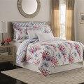 Покрывало из 3 предметов  покрывало на кровать  Двустороннее хлопковое розовое покрывало с цветочным принтом  покрывало с узором  Комплект п...