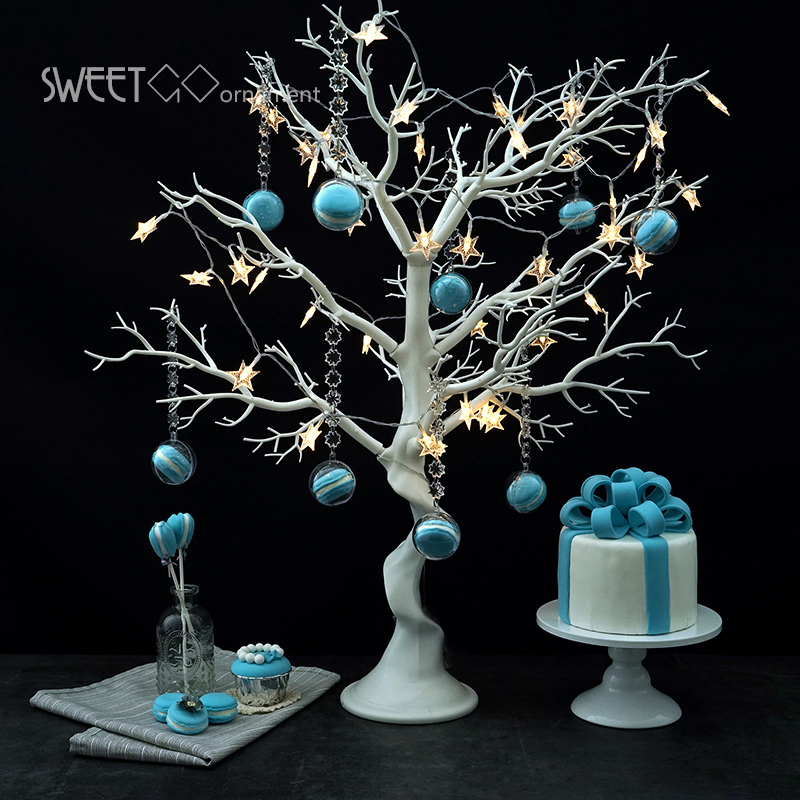 Wedding decoration tree white resin Simulated tree with macrons pendants for candy bar/shop window display Wishing Tree