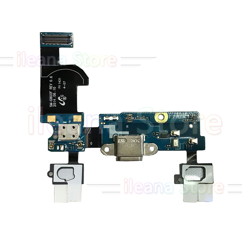 USB Charging Port Dock Connector Flex Cable For Samsung Galaxy S5 Mini G800 G800F G800H Alpha G850 G850F Original Menu Mic Flex