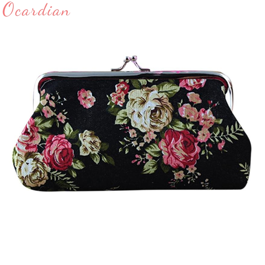 New Coin Purses Women Lady Retro Flower Small Wallet Hasp Purse Clutch Bag Wholesale Fashion Hot
