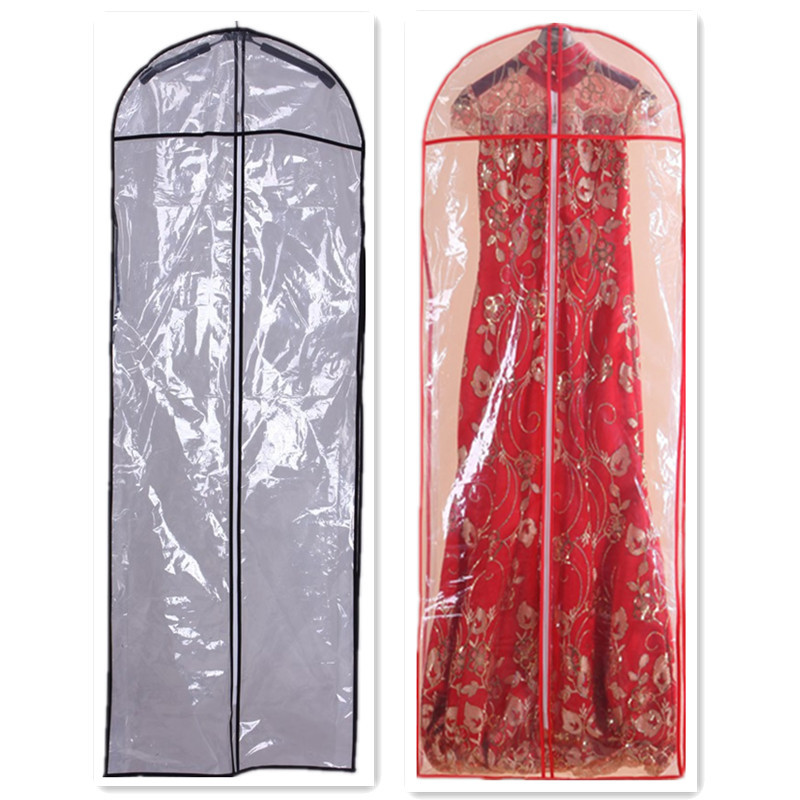Length 147cm Pvc Hot Wedding Dress Bag Clothes Dust Cover Garment Bags Bridal Gown Evening Dc004 In Storage From Home
