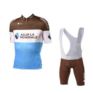 2019 pro team AG2R cycling jersey sets Short sleeve bike cloth MTB Ropa  Ciclismo Bicycle maillot jersey and bib shorts GEL pad-in Cycling Sets from  Sports ... 45dce61c2