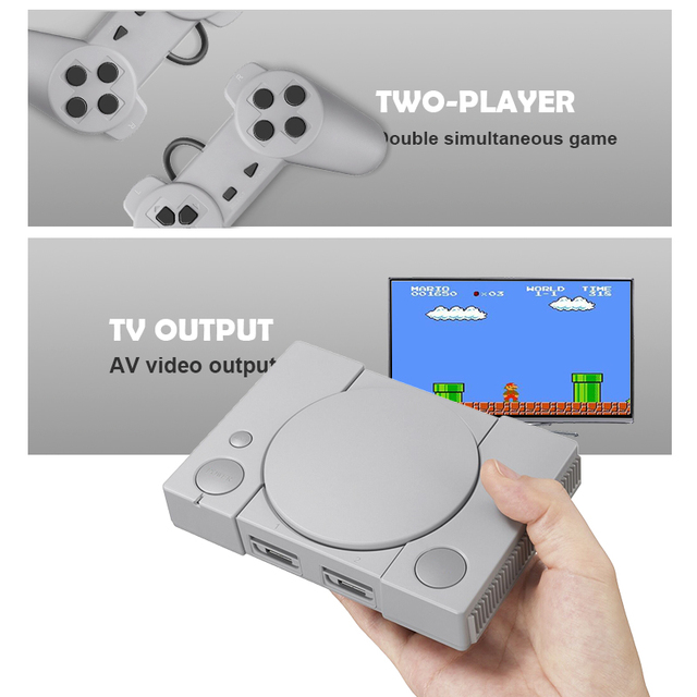 DATA FROG Mini 620 Retro Video Games Console Double Players 8 Bit Support AV Out Family TV Retro Games Controller 3