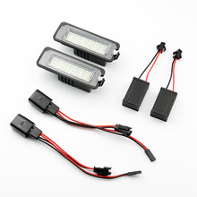 цена на SNCN 2Pcs 12V No-error LED Number Lamps for Volkswagen VW GOLF 4 5 6 7 Polo 6R Canbus License Plate Lights Car Accessories